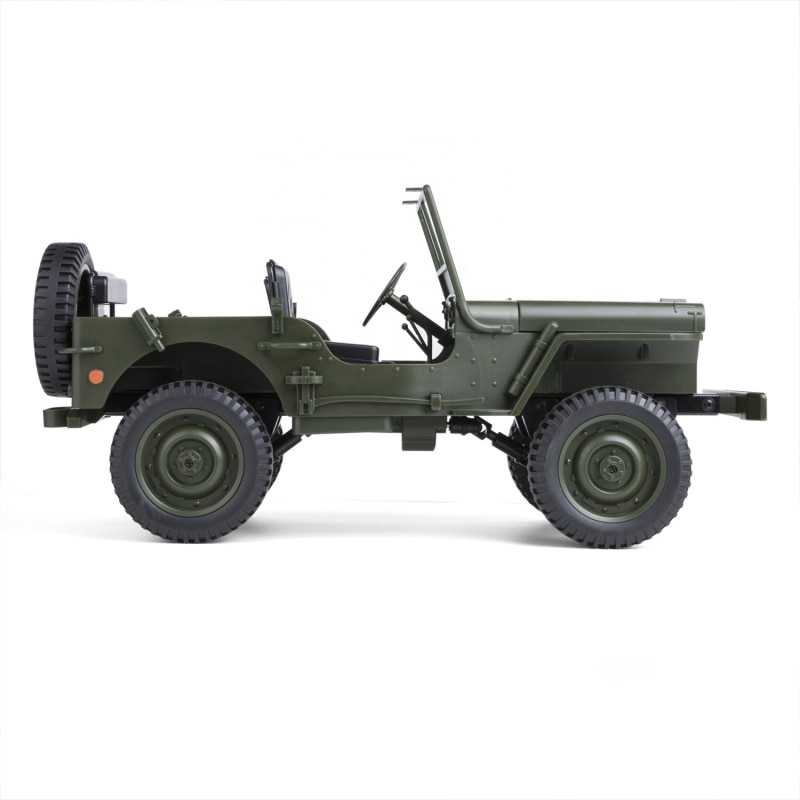 Military Model Electric Toys 1:10 Scale 2.4G 4WD World War II U. S. Army RC Willys JEEP Truck Model Toy For Gift Kids Collection enlarge