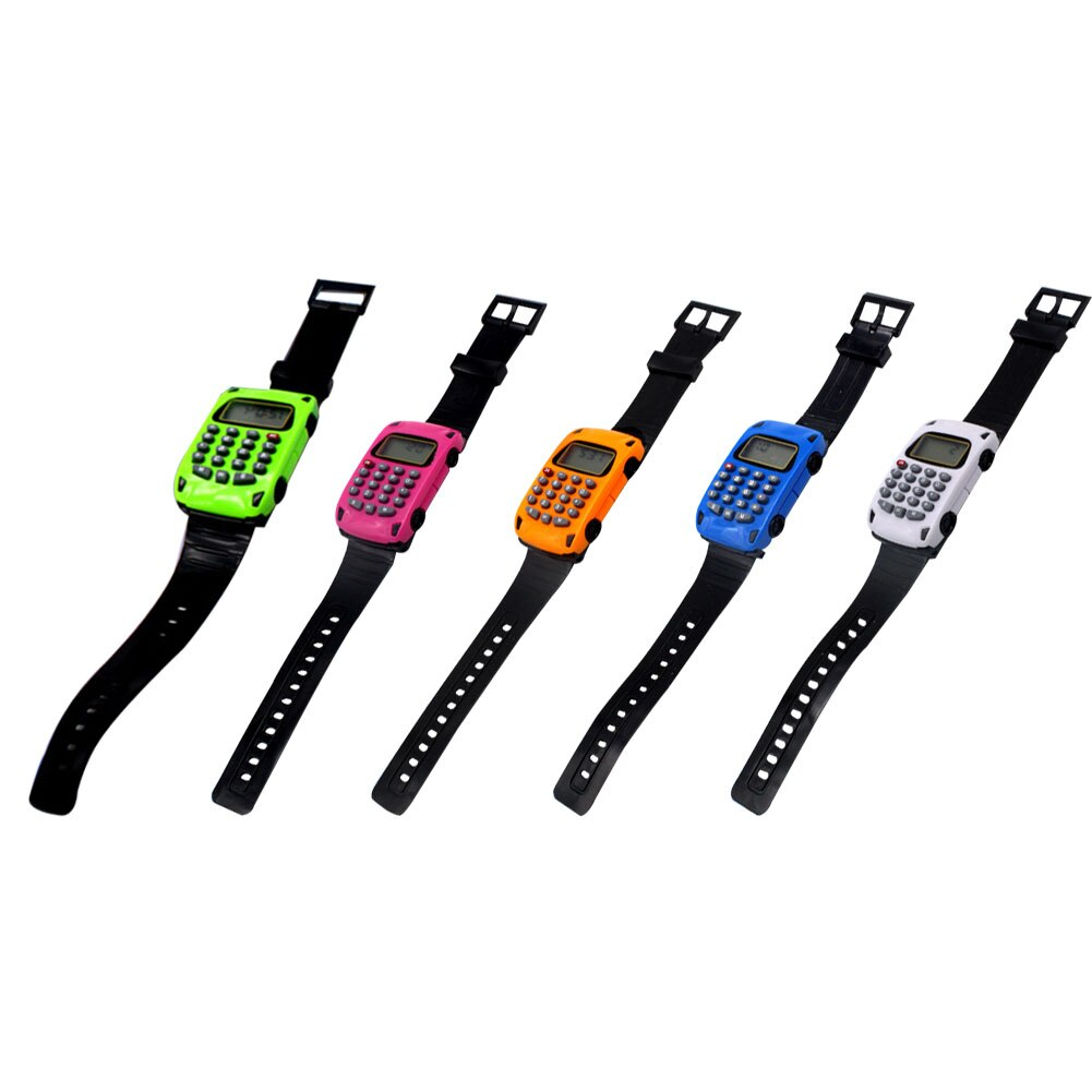 Moda Casual silicona deportes Mini multifuncional forma de coche calculadora indicador de fecha LED niños reloj de pulsera Digital Dropshipping