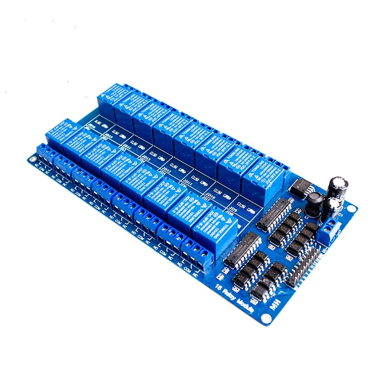 1 шт. TZT teng 1 шт. 12 в 16 канальный релейный модуль для arduino ARM PIC AVR DSP электронная релейная пластина ремень оптомуфта изоляция