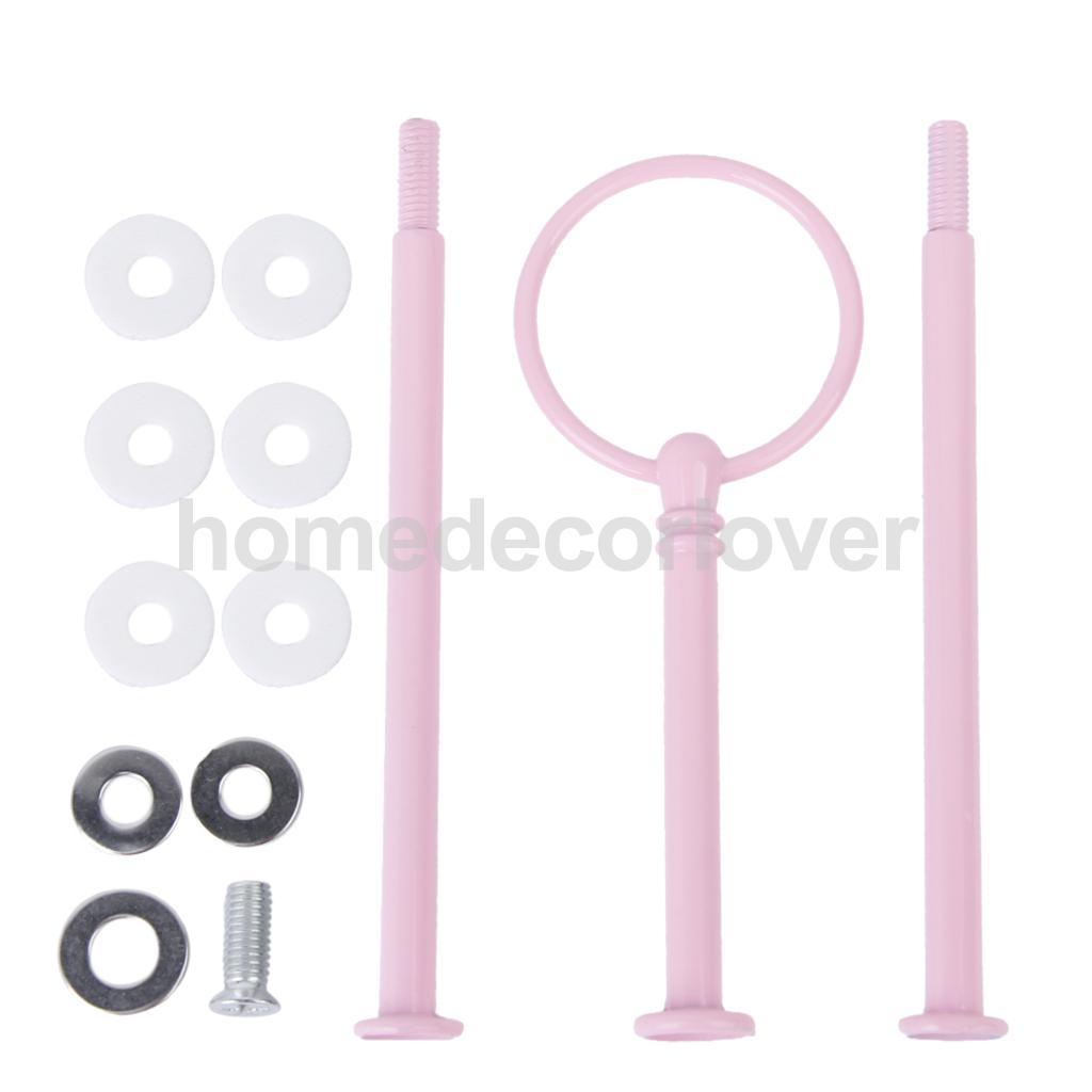 Новые 3 яруса торт кекс пластина подставка ручка Fittingfor вечерние свадебные пользу розовый