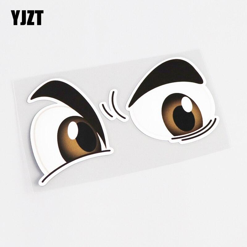 YJZT 12.5CM*7.8CM Interesting Animals Eye Car-styling Car Sticker Decal PVC Accessories 13-0467
