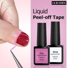 Huration Peel Off rose blanc Latex liquide Protection doigt peau ruban défenseur cuticule ruban facile à enduire 8ML Nail Art Gel vernis