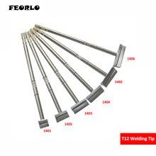 FEORLO Shovel Type T12-1403 1405 1404 1406 1401 1402 T12 Soldering Iron Tip STC LED STM32 OLED Temperature Controller For Hakko