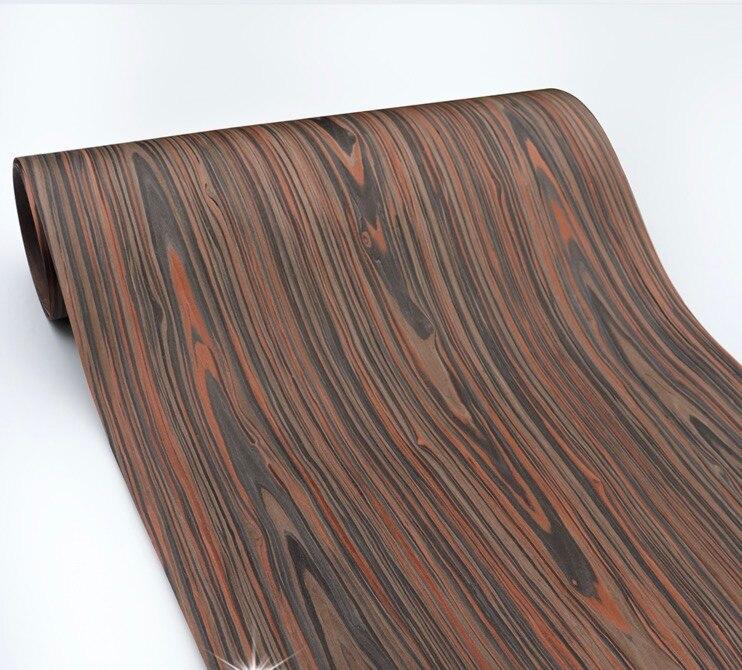 1 pieza Longitud 2,5 metros grosor 0,3mm ancho chapa de madera de cedro negro de corteza de madera tecnológica de 20 cm