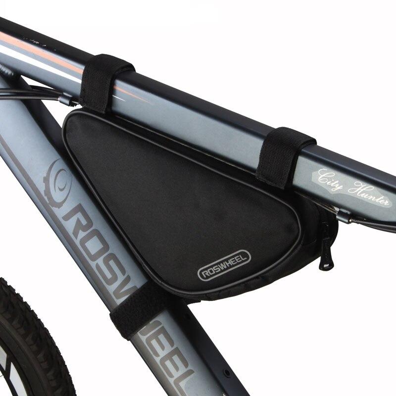 Bolsa de bicicleta Roswheel MTB triangular bicicleta bolsa de tubo de marco frontal accesorios de bicicleta de montaña bolsa de ciclismo Panniers cesta de bicicleta