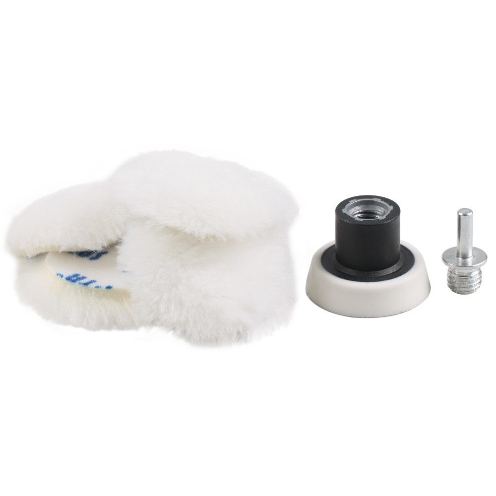 2 3 4 5 6 7 inch tampoane de lustruit lână, tampoane de lustruit cu - Instrumente abrazive - Fotografie 3