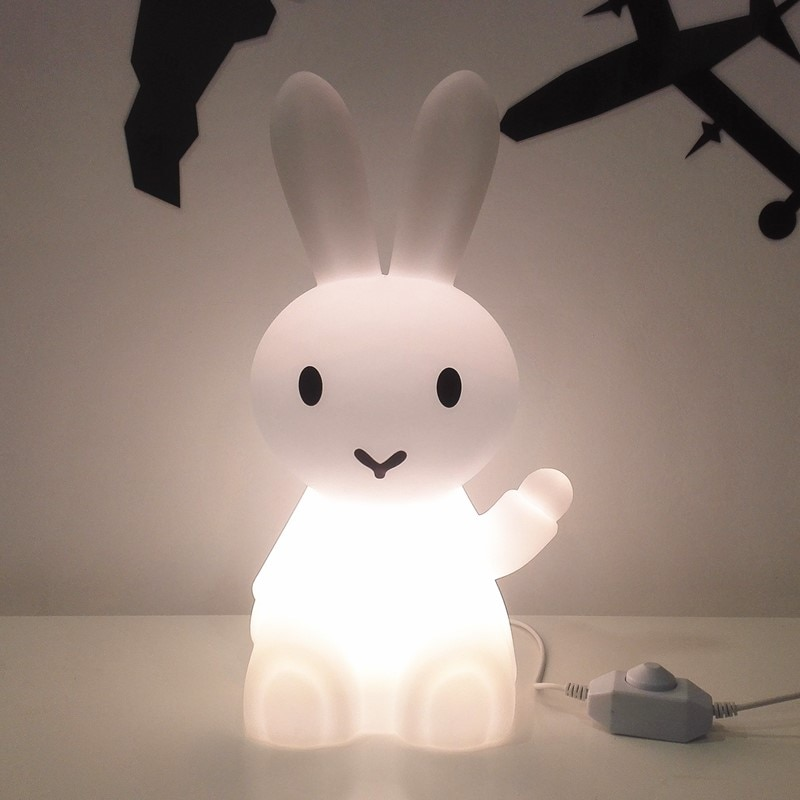 Ins Hot Bunny Rabbit Night Light Led Desk Light Bedroom Bedside Table Lamp Christmas Gifts for Baby Children Kids Cartoon Lamp enlarge