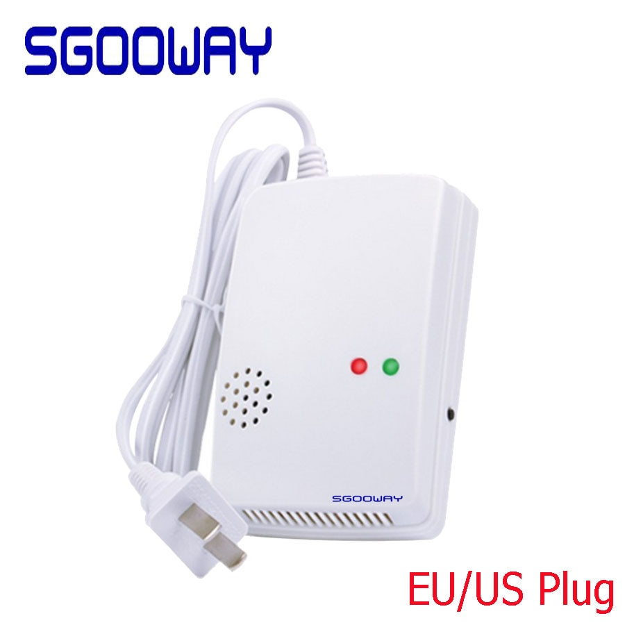 Sgooway Detector de Vazamento de Gás Sem Fio Sensor de Aviso de Alarme Home Security 433MHZ 85db Naturais 1527