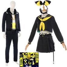 2018 Vocaloid magique MIRAI 10th anniversaire Concert Vocal en direct Kagamine Len Rin marin costume hauts robe uniforme Cosplay Costumes