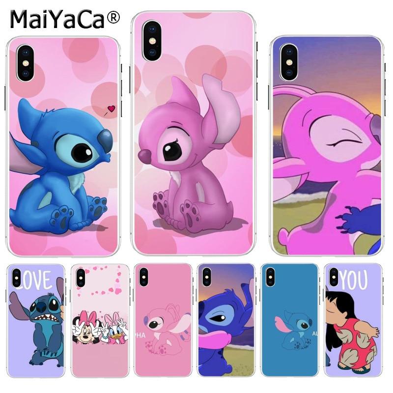 MaiYaCa de dibujos animados de punto a amigo par en venta de lujo fresco teléfono caso para iPhone 8 7 6 6S Plus X XS X max 10 5 5S SE XR