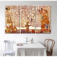 unframed 3 panels abstract tree painting modern wall canvas art print and poster quadros decorativos home decor for living room