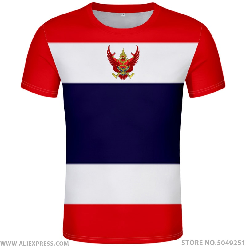 Camiseta de Tailandia, diy gratis, hecho a medida, nombre Número tha, camiseta, bandera de la Nación, impresión fotográfica de la Universidad del País tailandés, ropa con logo de texto
