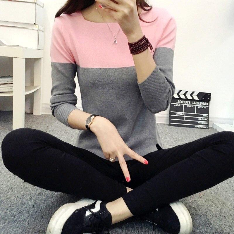Suéter de Otoño Invierno para mujer 2017 Jersey de punto de alta elasticidad suéteres y pulóveres para mujer
