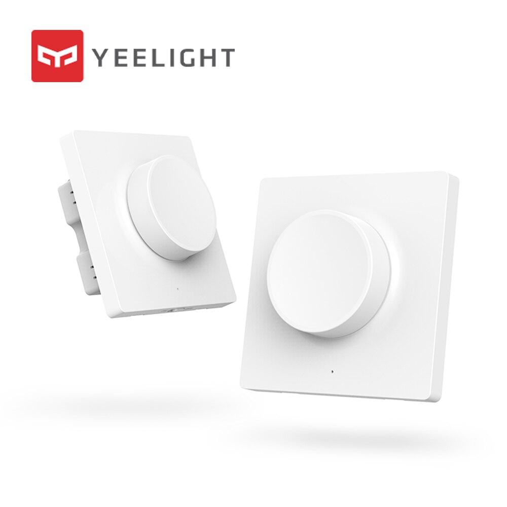 Original quente mijia yeelight inteligente dimmer interruptor de ajuste inteligente fora da luz ainda trabalhar 5 em 1 controle interruptor inteligente