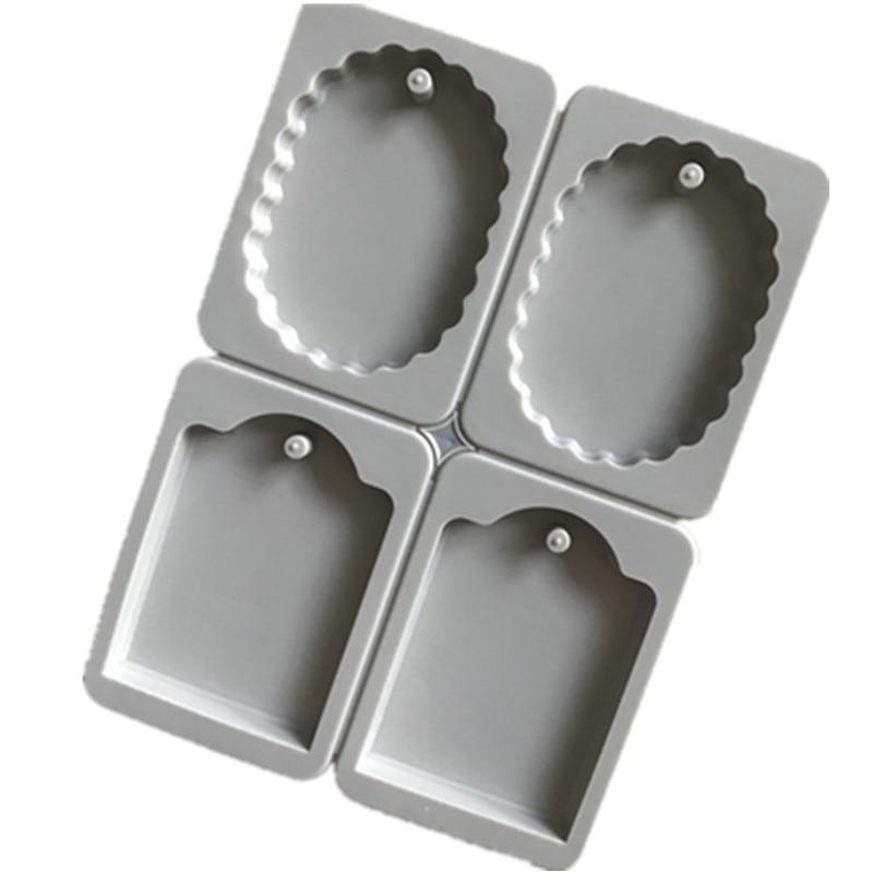 Cabujón de Resina de silicona rectangular y ovalado moldes para colgantes herramientas de joyería DIY accesorios de fabricación H499