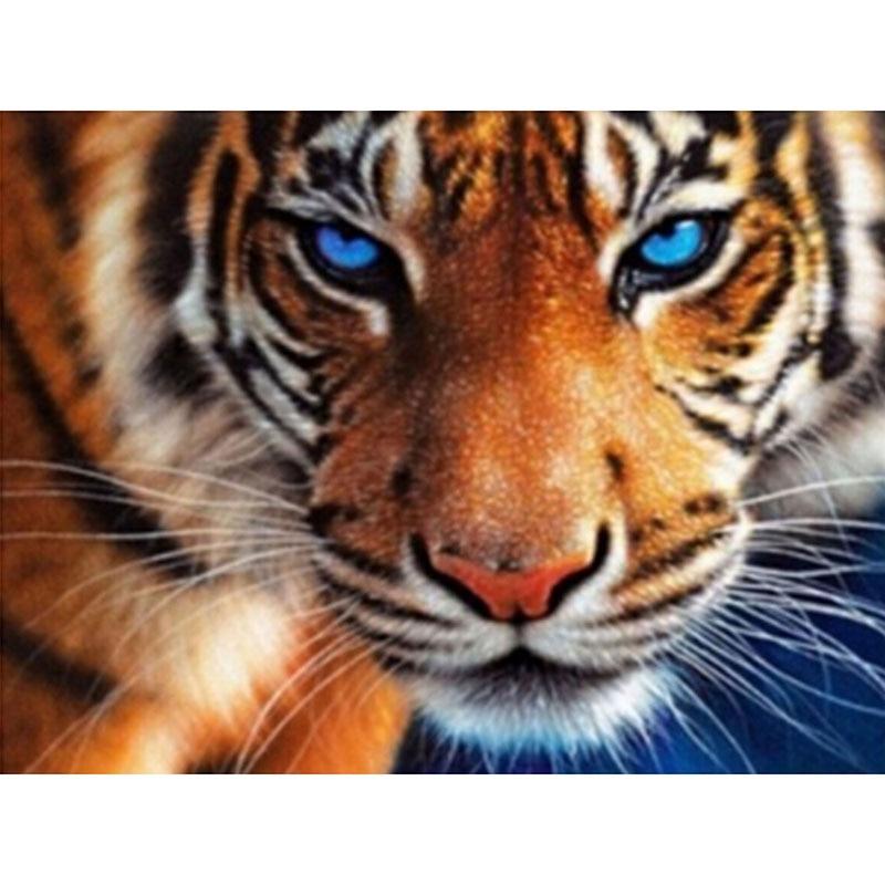 5D diamante bordado Tigre diamante Cruz puntada cuadrado diamante pintura diy diamante pintura animal zx