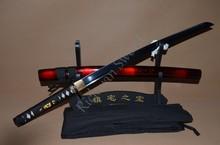 Óleo temperado Samurai Japonês Tanto Espada Faca Artesanal 1060 hamon aço carbono Completa Tang Lâmina Tsuka Atacado