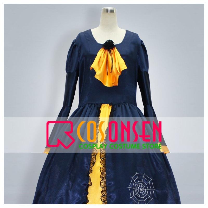 COSPLAYONSEN Vocaloid Aku no Musume Kagamine Rin Princess Cosplay Costume Dark blue and yellow Color