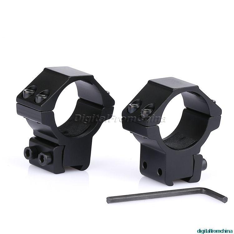 Alumínio tático caça um par 2 pçs 30mm anel escopo montar 11mm cauda de andorinha picatinny weaver trilhos perfil baixo para rifles tocha