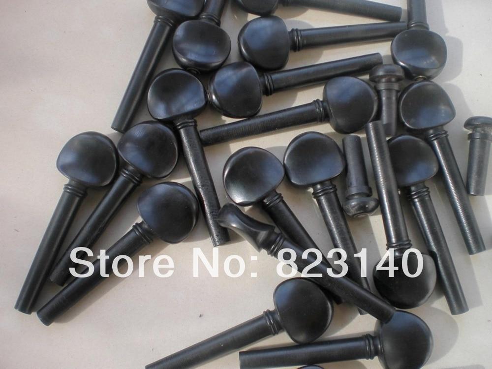 3 Sets Violin pegs(12pcs) with 3 pcs Violin end pins