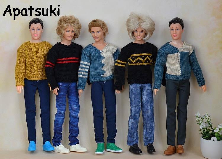 Ropa de Jersey de punto Casual de alta calidad para Ken Doll para el novio de Barbie Ken Doll Top Coat Clothes ropa de muñeca masculina