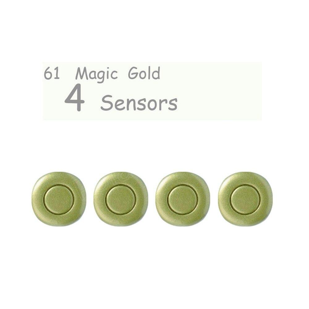 El nuevo producto, 4 piezas, 4 sensores de aparcamiento, Radar de marcha atrás para coche, 44 colores para elegir sin ningún accesorio de radar