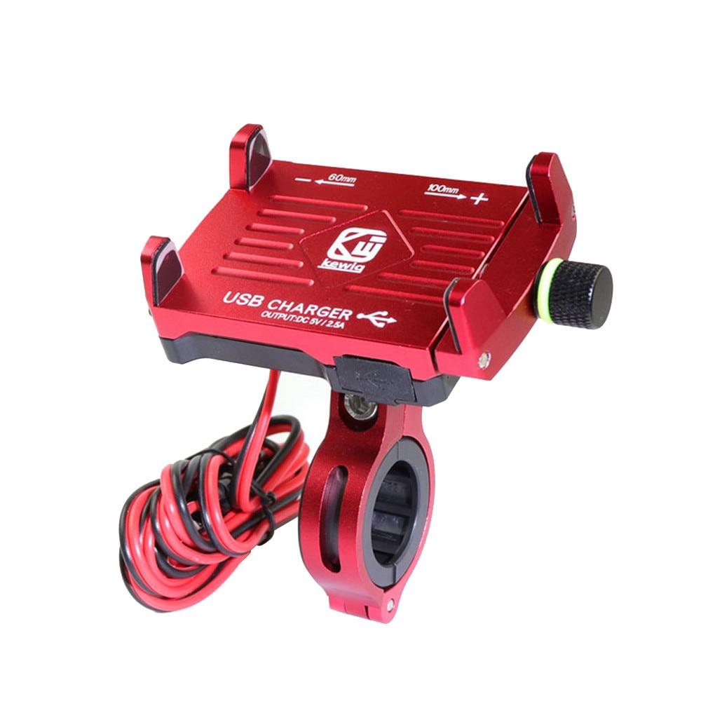 CARPRIE, soporte de teléfono para manillar de motocicleta, soporte de teléfono de Metal con cargador USB para teléfono inteligente, soporte para Iphone