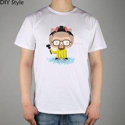 O GitHub OctoCat heisencat Breaking Bad Walter White Heisenberg T-shirt Top de Lycra de Algodão camisa Dos Homens T Novo