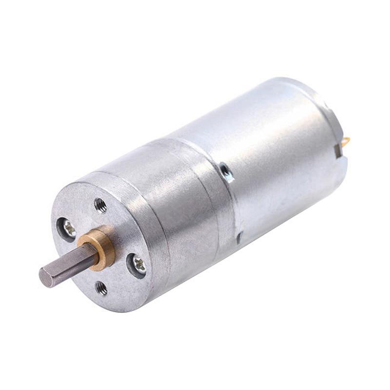 JGA25-370 Geared motor DC motor 6V 12V electric gear motor high torque 5/10/15/30/60/100/150/200/300