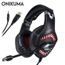 ONIKUMA K1 Pro casque Gaming Headset PS4 PC Gamer Stereo Koptelefoon Hoofdtelefoon met Mic LED Verlichting voor Xbox Een Laptop tablet