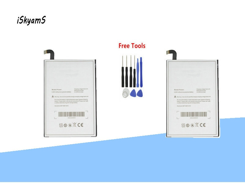 iSkyamS 2x 6050mAh Replacement Li-Polymer Battery For uleFone Power Smart Phone Mobile Phone Battereis +Tool