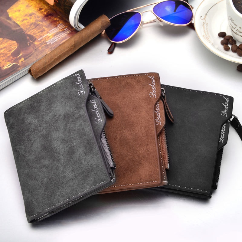 2019 Wallet Men Soft Leather Wallet with Removable Card Slots Multifunction Mens wallet Purse Male C
