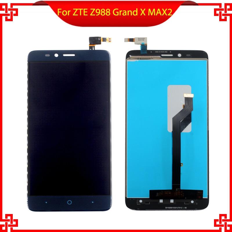 Nuevo para ZTE Z988 Grand X MAX 2 pantalla LCD completa digitalizador pantalla táctil bisel Asamblea VI032 T16 0,35