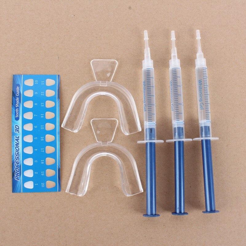 Уход за полостью рта гигиена 44% карбамид пероксид Отбеливание зубов Отбеливание осветление зубов гель шприцевый костюм 3 иглы + 2 подтяжки