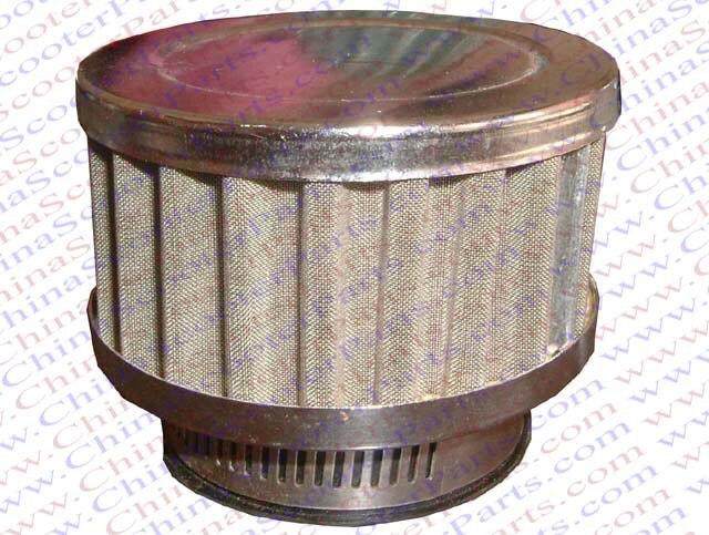 Filtre à Air argenté de 44MM   Capuchon argenté à grille, Mini Moto Dirt Pit Bike ATV Quad Scooter Buggy pièces de poche