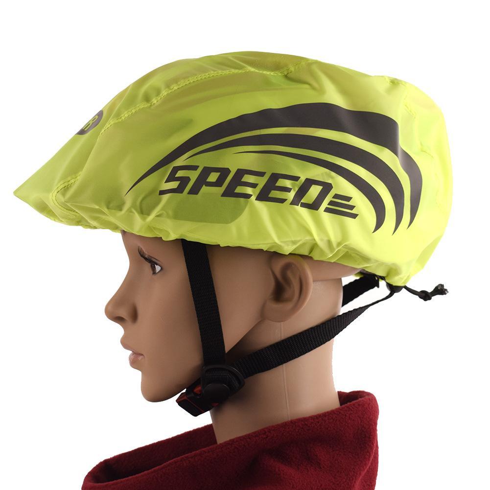 2PCS Waterproof Bike Bicycle Helmet Cover With Reflective Strip Cycling Bicycle MTB Road Bike Helmet Rain Cover Water Snow Cover