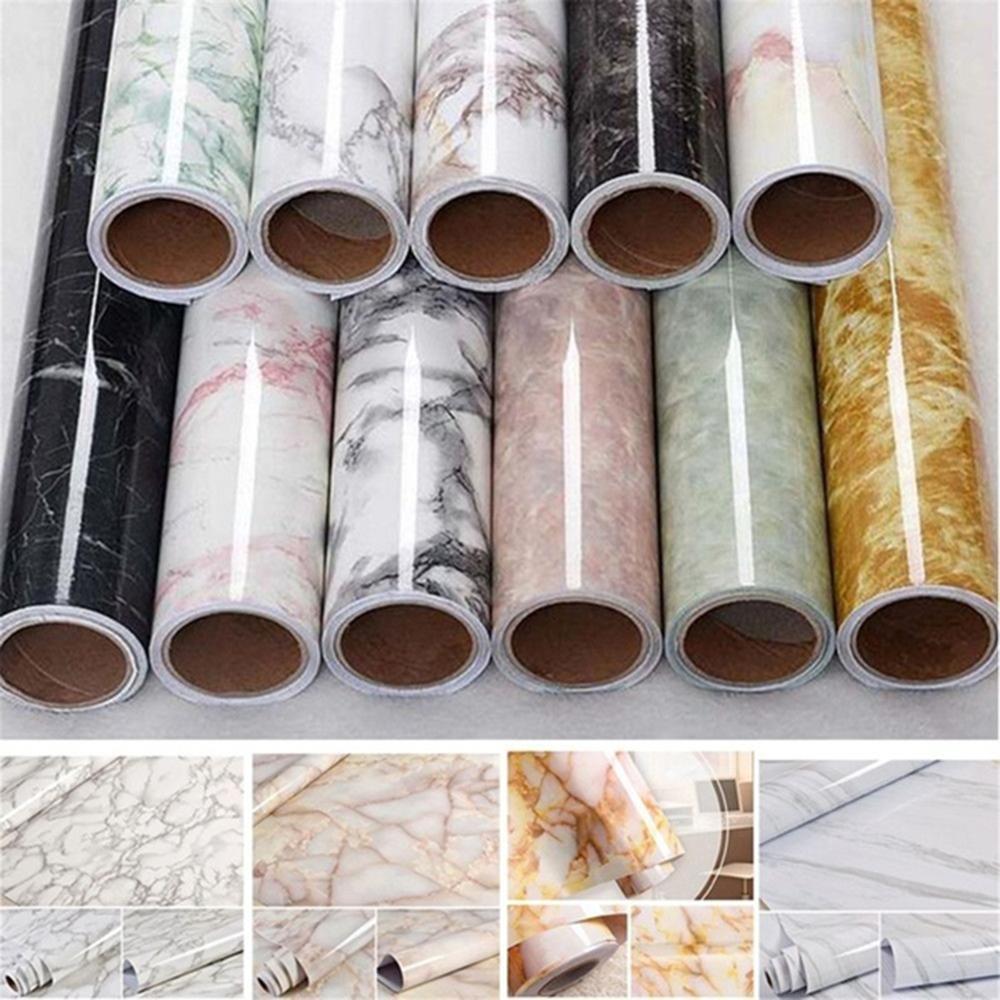 60*100cm impermeable pvc imitación mármol patrón pegatinas autoadhesivo papel pintado ventana alféizar armario tabla renovación