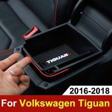Boîte de rangement accoudoir de voiture   Center de rangement, conteneur étui organisateur de gants pour Volkswagen VW Tiguan mk2 2016 2017 2018 2019, accessoires
