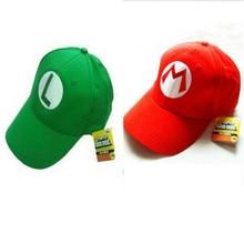 2020 Super Mario Cotton Caps hat Red Mario and luigi cap 5 colors Anime Cosplay Halloween Costume Buckle Hats Adult Hats Caps
