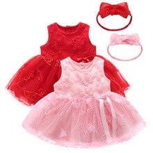 Vestido de princesa para niña recién nacida, ropa de verano, vestido de fiesta de encaje infantil, vestido de bautizo para boda, vestidos para niñas