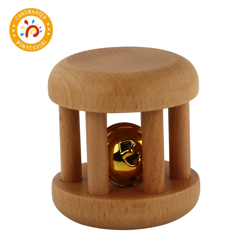 Montessori Material Baby Toys Bells with Ribbon Wooden Toy Preschool Education