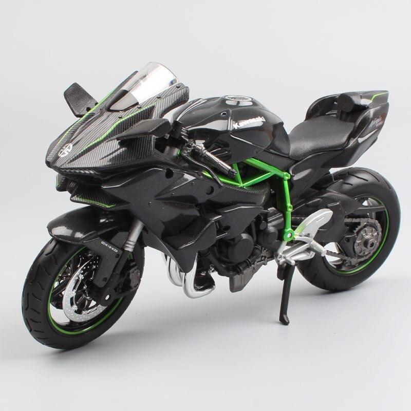 1:12 весы, Кавасаки ниндзи H2 H2R литье под давлением, спортивный велосипед, гоночный велосипед, модели с надписями, мини-игрушки для детей