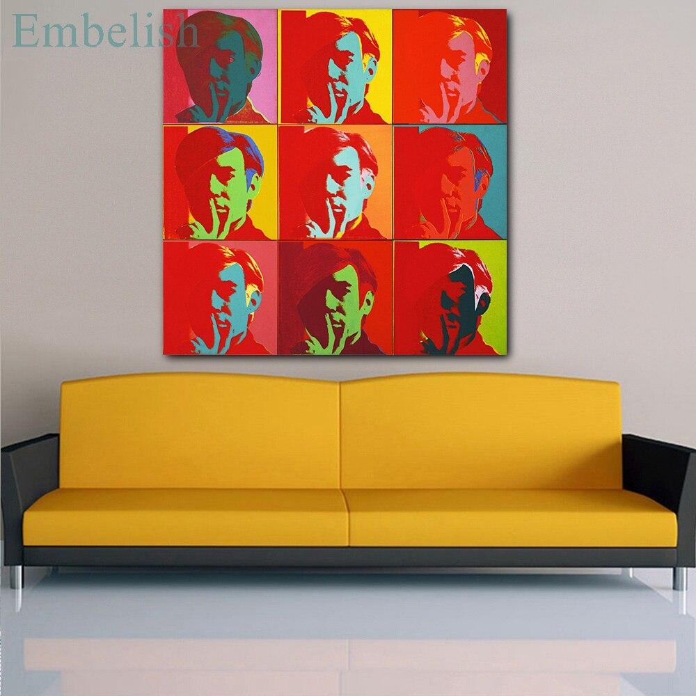 Pintura al óleo con imagen de naturaleza muerta para sala de estar, lienzo HD para decoración de pared imágenes artísticas Andy Warhol