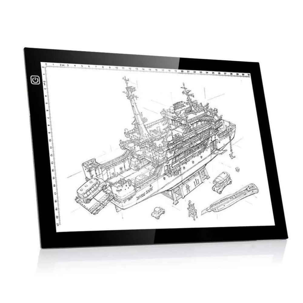 LED Digital Painting Board A4 LED Graphic Digital Tablet Ultra-thin Tracing Copy Pad Panel Drawing Tablet