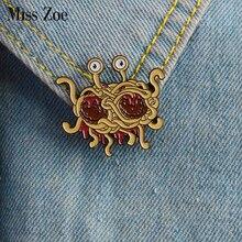 Эмалированный значок pastamarianism, летающая брошь на тонких бретельках, значок FSM, джинсы, сумка для джинсов, Забавный pin подарок для друзей