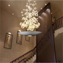 현대 유리 공 led 펜던트 조명 조명 직사각형 식당 광택 빛 무료 배송
