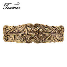 Teamer Antique argent couleur Barrettes pour femmes Vintage épingles à cheveux bohème rétro motif coiffure en métal pince à cheveux HCLIP10029