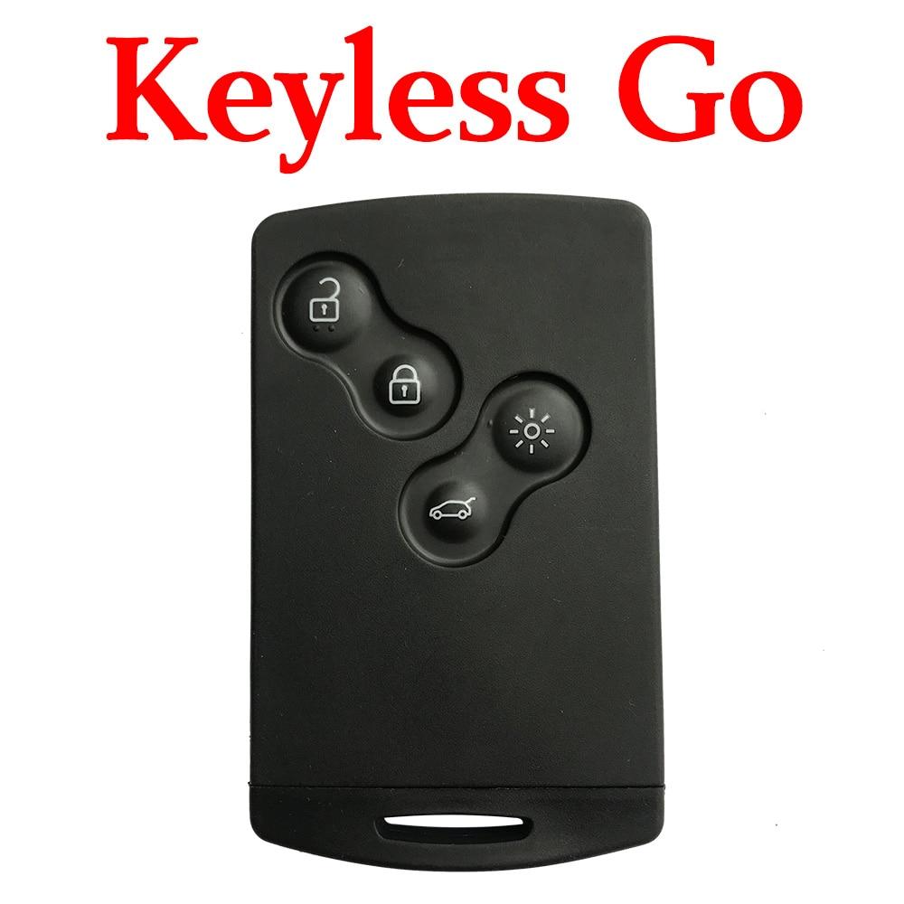 4 botones 434 MHz tarjeta inteligente de proximidad para Renault Koleos Megena Fluence Kongo