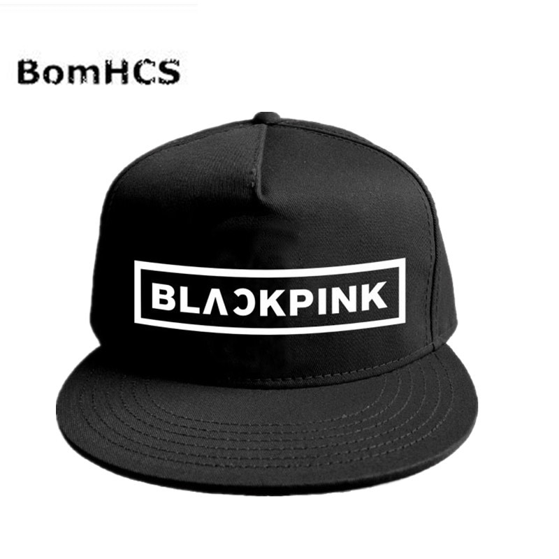 BomHCS Kpop BLACKPINK JISOO JENNIE LISA gorra de béisbol de moda ajustable Snapback sombrero