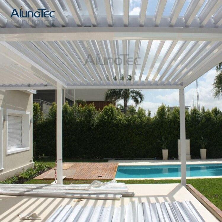 Pergola para teto de teto motorizado de abertura, altura de 4m de comprimento x 5m de projeção x 3m